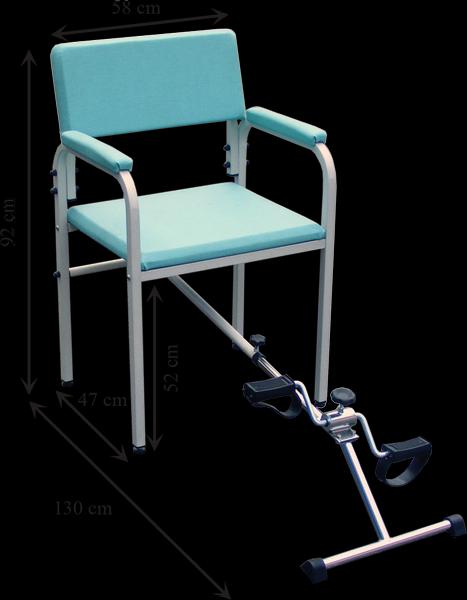 Silla con pedalier con medidas
