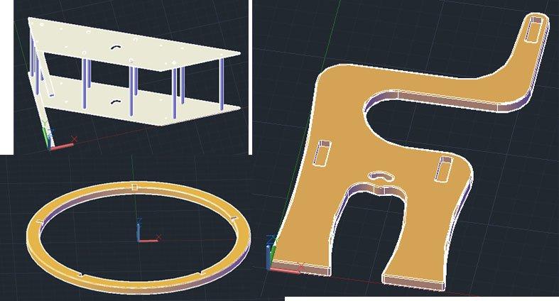 CAD, rampa, rueda,silla