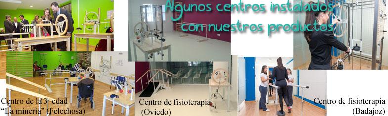 Algunos centros instalados